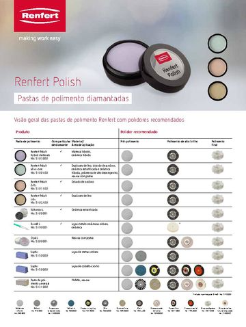 Renfert Polish hybrid materials | Flyer | PT