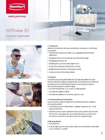 EASY view 3D | Flyer - Domaines d'application | FR